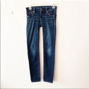 American Eagle dark wash super stretch jeggings